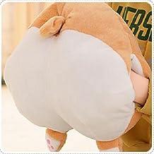 Rainbow Fox Corgi Butt Shaped Cushion Hand Warm Pillow Round