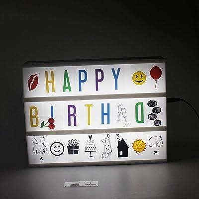 Kidoo 118 DIY letras cifras Emoji para A4 Kino Leuchtkasten luz creativa decoración luz Box tarjeta novedad niños Message Board tarjeta