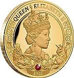 Power Coin Queen Elizabeth II 95 Cumpleaño 1 Oz Moneda Oro 100$ Niue 2021