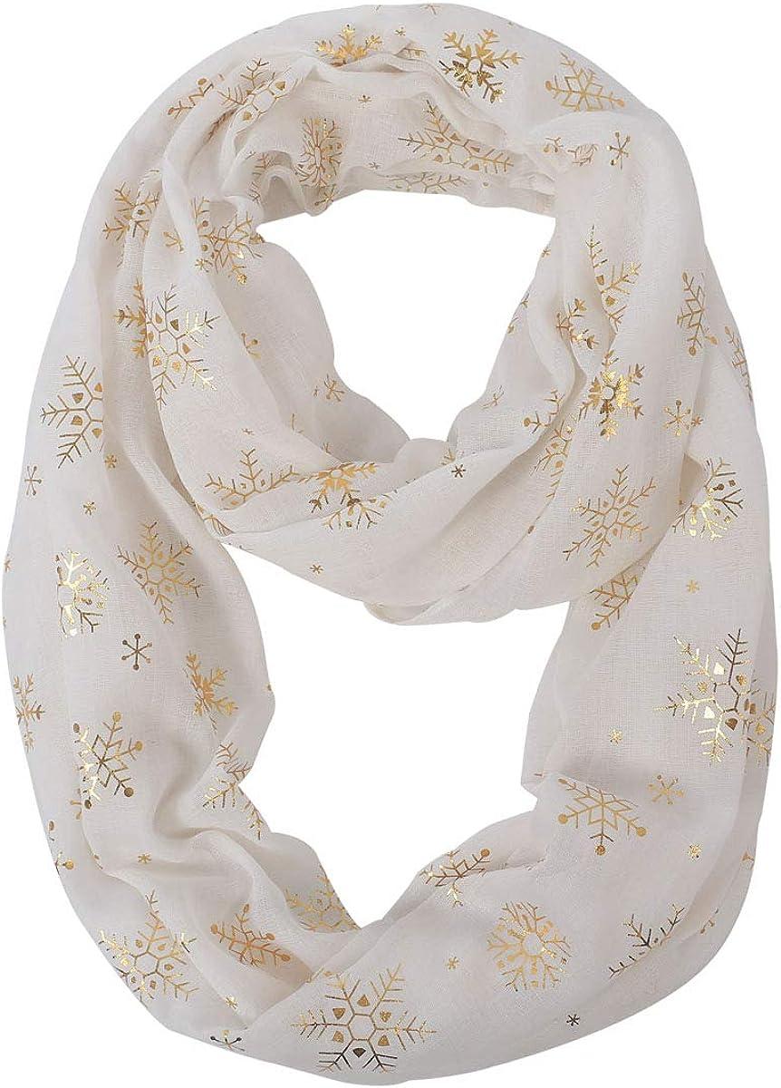 Lightweight Infinity Artistic Scarf For Womenn, Floral Print Fashion Premium Soft