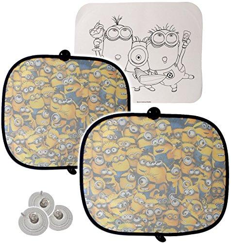 alles-meine.de GmbH 2 TLG. Set Sonnenschutz - Minions  Ich einfach unverbesserlich  - für Seitenscheibe im Auto - mit Saugnapf - Sonnenblende - für Kinder Baby - Mädchen & Jung..