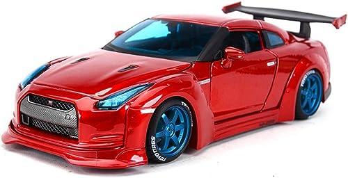 tienda de descuento YaPin Model Car 1 1 1 24 Nissan GTR Aleación Modificada Modelo de Coche de Simulación de Coche de Juguete Coche Estático Modelo de Coche 25x8.5x5CM Modelo de Coche  Ahorre 60% de descuento y envío rápido a todo el mundo.