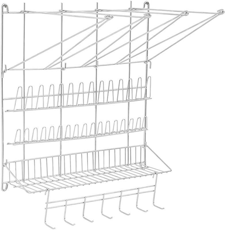 HUBERT Pastry Bag Organizer Racl Stainless Steel Wall Rack 20 L X 24 H