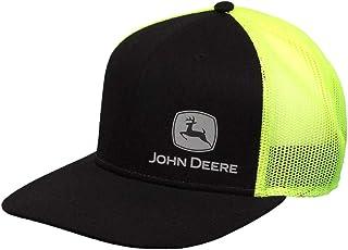 قبعة للرجال من John Deere Tractors رمادية بشعار Off Centered Snapback ، أسود ومربع باللون الأصفر ، الأسود/هاي فيز الأصفر، ...