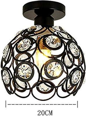 Moderno Lámpara de techo de Cristal 20cm Plafón E27 Iluminación ...