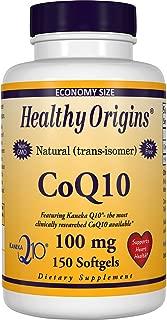 Healthy Origins Kaneka CoQ10 Gels, 100 Mg, 150 Count