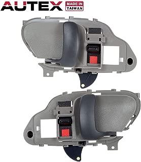 AUTEX Door Handle 2pcs Grey Interior Door Handle Front/Rear Left Right Compatible with GMC C1500 Pickup/Suburban 1995-1999 Replacement for GMC C2500 Pickup/Suburban 1995-1999 Compatible with GMC K3500