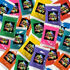 🌈25 individual 75 gram packets of assorted colors - you will receive 8 colors - red, yellow, orange, green, teal, blue, purple, pink 🌈Perfect for Fun Runs, Color Wars, Photo Shoots, Birthday Parties and Celebrations 🌈Use Color Powder Packets for a Co...