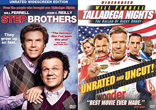 SHAKE AND BAKE! Will Ferrell & John C Reilly Comedy Double Feature: Step Brothers & Talladega Nights