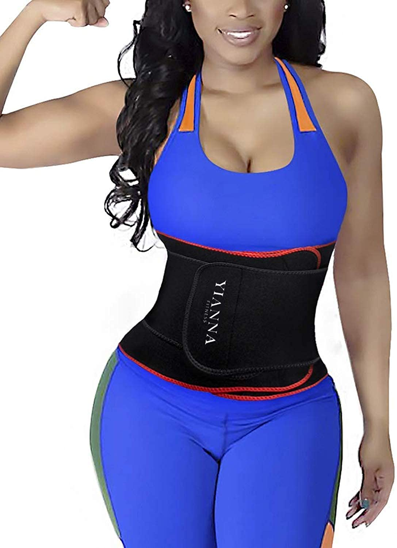 YIANNA Waist Trainer Belt for Women Waist Trimmer Eraser Belly Band Body Shaper Sports Girdles
