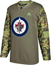 adidas Winnipeg Jets NHL Men's Camo 2017-18 Authentic Armed Forces Camo Practice Jersey