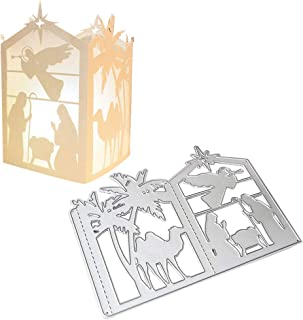 Hukai Christmas Lantern Metal Cutting Dies Stencil DIY Scrapbooking Album Stamp Paper Card Embossing Crafts Decor,Good Gift for Your Kids to Cultivate Their Hands-on Ability