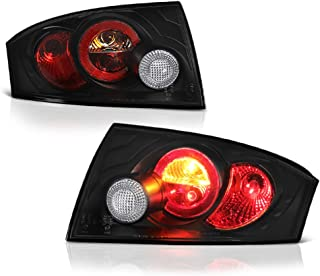 VIPMOTOZ For 2000-2006 Audi TT Black Bezel Euro Style Altezza Tail Light Housing Lamp Assembly Replacement Driver and Passenger Side