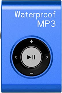 HOMYL Portable Waterproof Mp3 Music Player Stereo Sound FM Radio with Clip Hanging Type - Blue