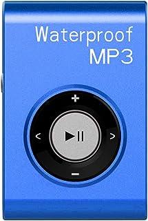 Travel Mini Mp3 Music Player FM Radio Waterproof USB Power with Clip 8GB - Blue