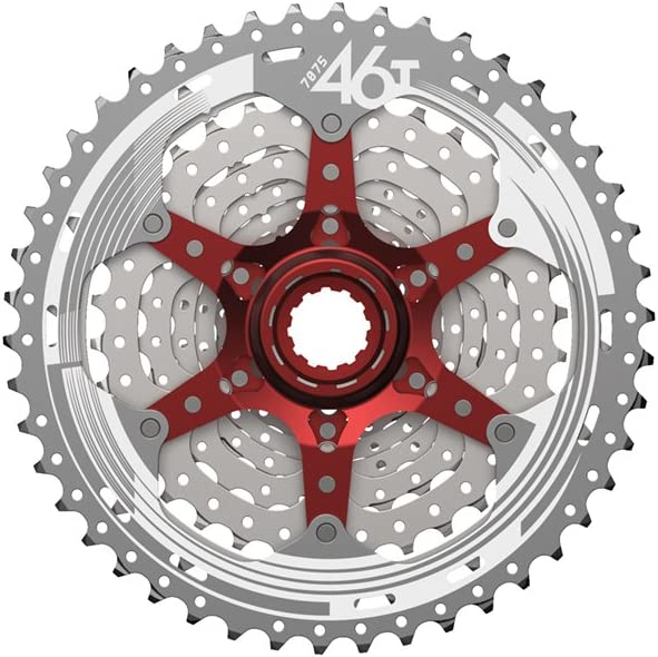 SUNRACE 10 Speed Cassette 11-42T CSMS3 MTB Cycling Sprocket Cassettes Hook Tail