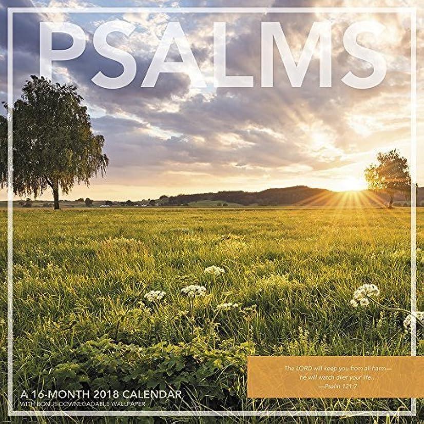 質素なハウス署名Psalms 2018 Wall Calendar [並行輸入品]