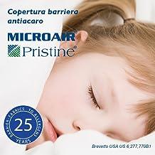 Microair Pristine Zero - Cubrealmohada Barrera antiácaros Normal cm 50x80, Color- Blanco