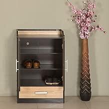 Nilkamal Hilton Shoe Cabinet, Wenge & Oak