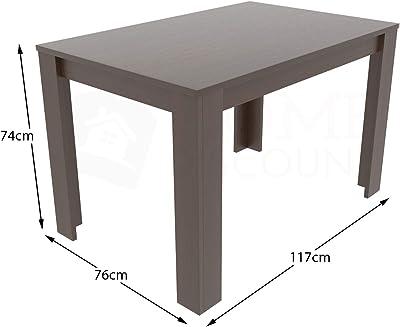 Vida Designs Medina Table de Salle à Manger rectangulaire Moderne en Bois MDF 4 Places Noyer