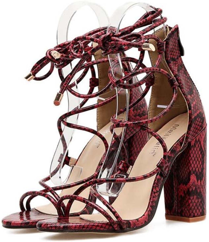 Pump Pump Pump 10.5cm Chunkly Heel Cross Strap Sandals Dress skor kvinnor Sexy Open Toe Hollow Serpentine Zipper OL Court skor Roma skor EU Storlek 34 -40  försäljning