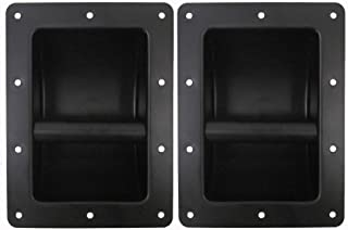 Seismic Audio - Pack of Two (2) Black Metal Recessed PA/DJ Speaker Bar Handles