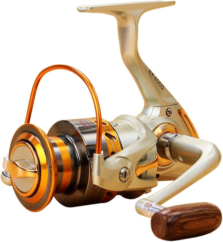 Iusun Fishing Reels EF500EF9000 12BB Metal Spool Folding Arm Left Right 5.2 1 Spinning Reel Saltwater Freshwater Wheel Gear Light Weight Ultra Smooth Powerful High Speed Low Profile Baitcasting