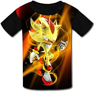 guoweiweiB Camisetas de Manga Corta para niño, Gold Shadow The Hedgehog So-Nic Kids T-Shirts Short Sleeve Tees Summer Tops...