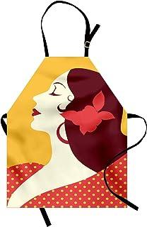 TBOC Grembiule da Cucina Bianco in Cotone 100/% Souvenir con Motivi Tipici di Siviglia Andalusia Spagna con Ballerina Flamenco Flamenca Torero Ventaglio Giralda Unisex per Uomo Donna