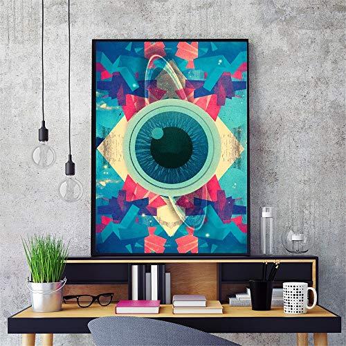 AJleil Puzzle 1000 Pezzi Pittura Astratta psichedelica di Arte dell'occhio Puzzle 1000 Pezzi paesaggi Great Holiday Leisure , Giochi interattivi per famiglie50x75cm(20x30inch)