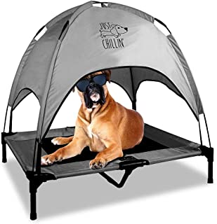 Floppy Dawg Just Chillin' Elevated Dog Bed. Medium and Large Size Dog Cots in a Variety of Colors. Removable Canopy. Used ...