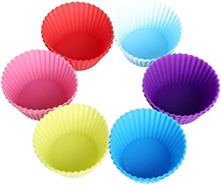 SNR Round Shape 6 Cup Cupcake Muffin Mould (Pack of 6, Cake Making Supplies)
