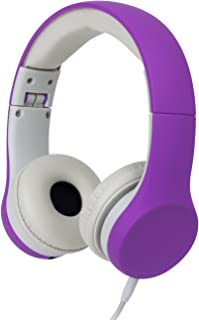 Snug Play+ Kids Headphones Volume Limiting and Audio Sharing Port (Purple)