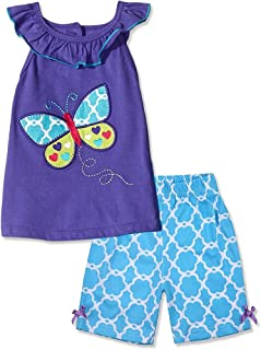 Little Bitty Girls Summer Clothes Toddler Girl Short Sets Cotton Clothing Ruffle Tops + Shorts Pants Outfits 2 Pcs