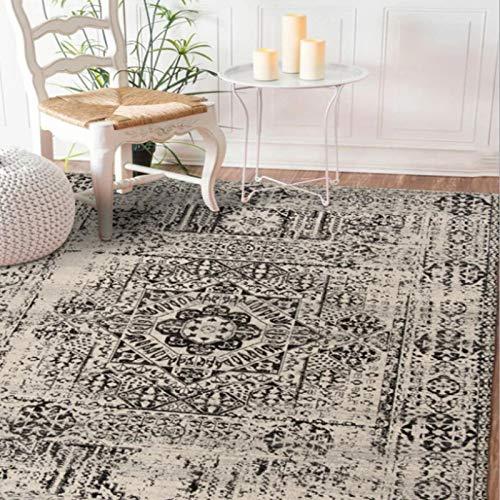 Alfombra estampada de estilo turco Retro, área de sofá para sala de estar, exquisita alfombra de poliéster, estudio, dormitorio, alfombra antideslizante140 * 200Cm