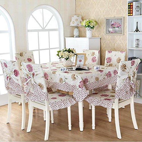 tissu, nappes, coussin de chaise, couverture de chaise pastorale,150*200CM