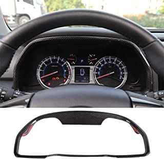 JeCar Dashboard Panel Display Frame Decor Covers Trim Decals Stickers 4Runner Decoration Accessories for Toyota 4Runner 2010-2019 Carbon Fiber Pattern