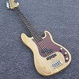 Lztly Guitare électrique Guitare De Basse Électrique 5 Cordes Basse Guitare Naturel Érable Cou Guitare Classique Guitares débutantes (Color : Guitar, Size : 43 inches)