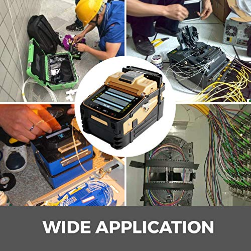 Mophorn Fiber Fusion Splicer AI-8 with 6 Seconds Splicing Time,Fusion Splicer Machine Melting 15 Seconds Heating, Automatic Fiber Optical Fusion Splicer for Optical Fiber & Cable Projects
