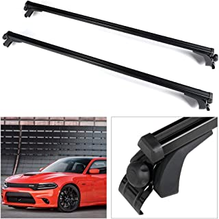 cciyu Universal Adjustable Aluminum 55†Roof Rack Cross Bar Car Top Luggage Carrier Rails Fit for 2005-2008 Dodge Magnum,1990 Dodge Omni,2016-2017 Fiat 500X,2001-2018 Ford Escape