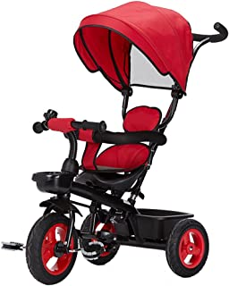 Strollers Baby Detachable Rotating Seat Reclining Backrest Kids Children Trike Tricycle Wning Suitable for 6 Months -5 Years Old Kids (Color : Red)