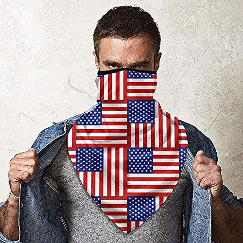 WCUTE Drapeau américain Motif Magique Chapeaux Foulard Bandanas Moto Bandeaux Tube écharpe Cou guêtre Chapeaux