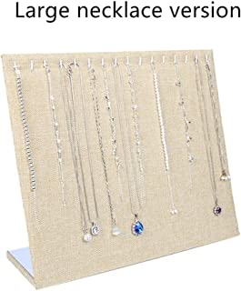 Jewellery Boxes & Organisers Necklace Pendant Display Stand Women Jewelry Organizer Holder Storage Case Bracelet Display Rack (Color : Beige, Size : 33 * 29cm)