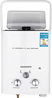VEVOR Portable Propane Water Heater 6L Tankless Propane Water Heater 16KW Tankless Water Heater for Outdoor and RV