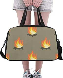 Tote Bags Fire Hot Light Jumping Custom Day Duffel Sturdy Duffel Fitness Bag For Women Boy Fitness Gift Swimming Dufflebag With Shoe Pounch