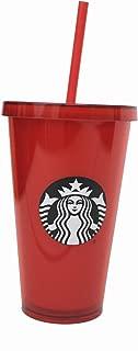 Starbucks Venti Red 2017 Cold Cup Tumbler 16 Oz