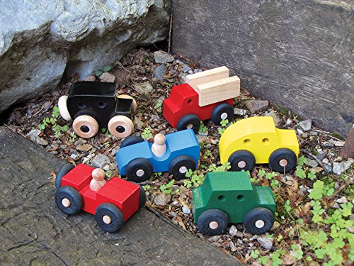 Mites - Set of 6 Wooden Cars - Made in USA