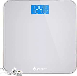 Etekcity Digital Body Weight Bathroom Scale with Body Tape Measure and Round Corner..