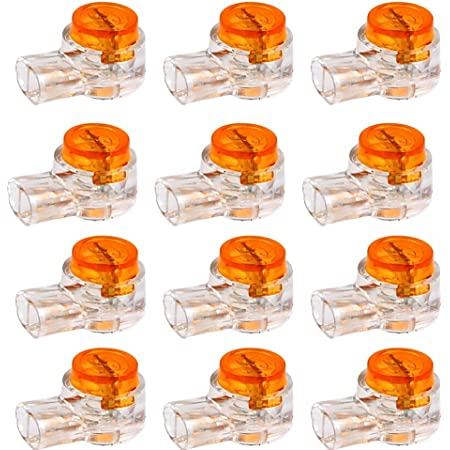 200 Piezas K1 Conectores de Empalme a Tope Conector de Cable Conectores de Cable Eléctrico UY Conector de Gel de Empalme a Tope