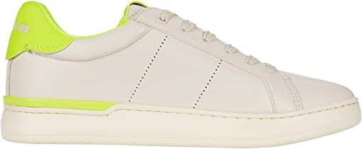 Chalk/Neon Yellow Smooth Leather
